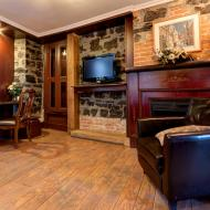 Salon-rustique-mur-de-pierre-tv-hd-hotel-sainte-anne